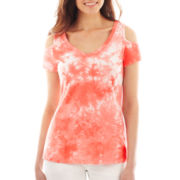 Decree® Cold-Shoulder Short-Sleeve Tee