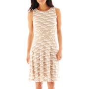 Trulli Sleeveless Textured Wave Knit Dress