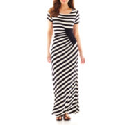 Trulli Short-Sleeve Striped Maxi Dress