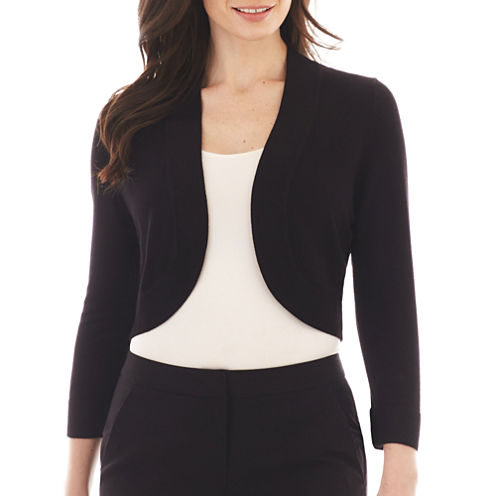 Jessica Howard 3/4-Sleeve Bolero Sweater