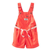 OshKosh B'gosh® Orange Shortalls - Girls 3m-24m