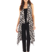Dolled Up Open-Front Aztec Print Vest