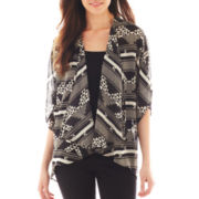 Circles and Cycles Chiffon Kimono Cardigan