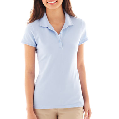 Arizona short sleeve polo shirt jcpenney for Jcpenney ladies polo shirts