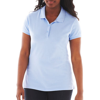 Arizona short sleeve polo shirt juniors plus jcpenney for Jcpenney ladies polo shirts
