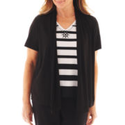 Alfred Dunner St. Kitts Short-Sleeve Striped Layered Top