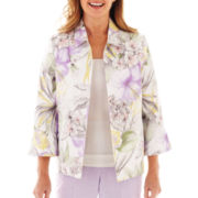 Alfred Dunner® Provence 3/4-Sleeve Tropical Print Jacket