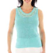 Lark Lane® Spring Fling Sleeveless Tape Yarn Sweater Shell