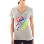 Nike® Dri-FIT Short-Sleeve V-Neck Graphic Tee