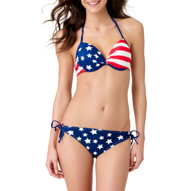 jcpenney.com | Arizona Star Bra Swimsuit Top or Keyhole Hipster Swim Bottom-Juniors