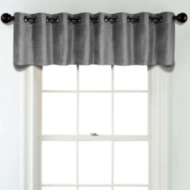 jcpenney.com | JCPenney Home Velvet Grommet Poly-Cotton Lined Tailored Valance