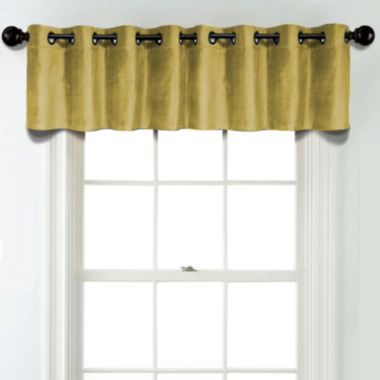 jcpenney.com | JCPenney Home Velvet Grommet Blackout Lined Tailored Valance
