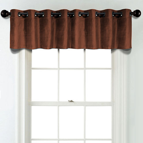 JCPenney Home Velvet Rod Pocket Unlined Tailored Valance