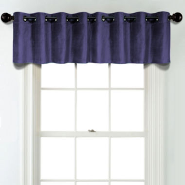 jcpenney.com | JCPenney Home Velvet Rod Pocket Poly-Cotton Lined Tailored Valance