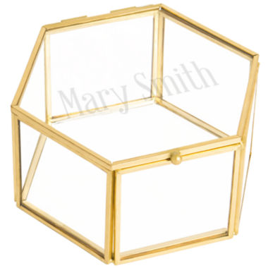 jcpenney.com | Cathy's Concepts Monogrammed Gold Glass Keepsake Box