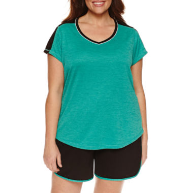jcpenney.com | Made For Life Short Sleeve V Neck T-Shirt-Plus