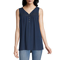 Artesia-Womens V Neck Sleeveless T-Shirt Deals