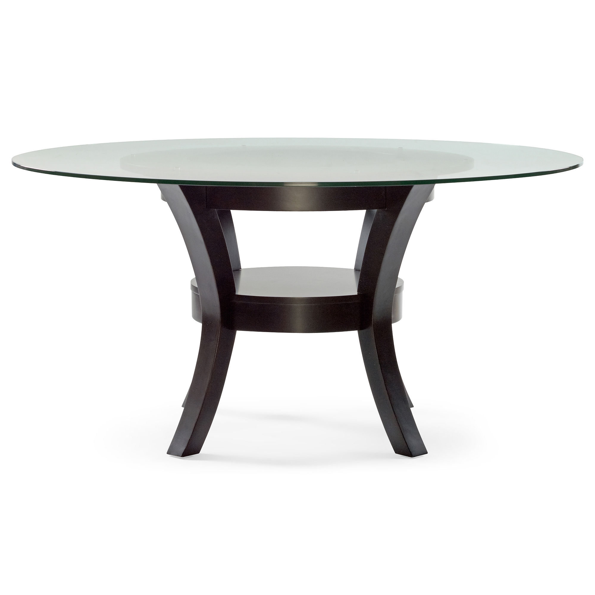 Porter Round Glass Dining Table Porter Round Glass Dining Table Open