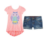 Arizona Fashion Tee or Denim Shorties – Girls 7-16 and Plus
