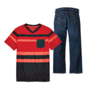 Arizona Striped Pocket Tee or Jeans – Boys 8-20