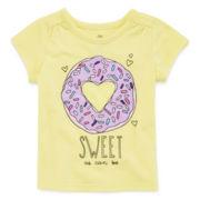 Okie Dokie® Short-Sleeve Graphic Tee - Baby Girls newborn-24m