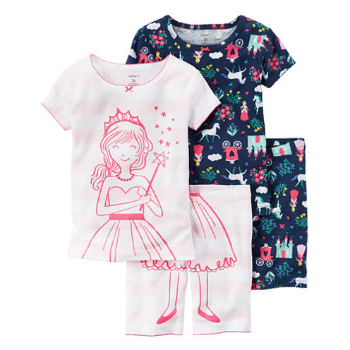 Carter's 4-pc.Pajama Set-Toddler Girls