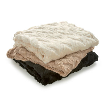 jcpenney.com | Vellux Chevron Faux Fur Throw