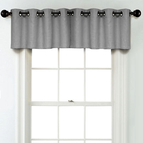 JCPenney Home Linen Grommet Poly-Cotton Lined Tailored Valance