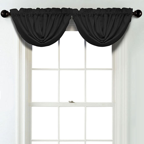 JCPenney Home Linen Rod Pocket Blackout Lined Waterfall Valance
