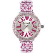 Betseyville® Womens Crystal Accent Watch