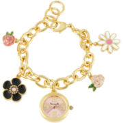 Betseyville® Womens Charm Bracelet Watch