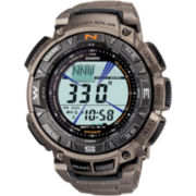 Casio® Pro Trek Mens Triple Sensor Multifunction Titanium Watch