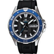 Casio® Edifice Mens Marine Black & Blue Watch