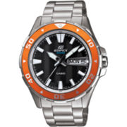 Casio® Edifice Mens Marine Black & Orange Watch