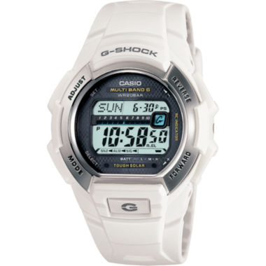 jcpenney.com | Casio® G-Shock Multi-Band Atomic Time White Solar Watch GW-M850-7JCP