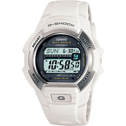 Casio® G-Shock Multi-Band Atomic Time White Solar Watch