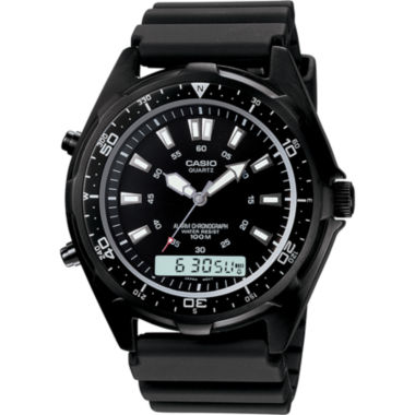 jcpenney.com | Casio® Mens Black Dive Watch AMW320B-1A