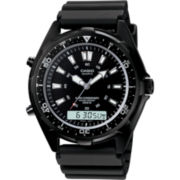 Casio® Mens Black Dive Watch AMW320B-1A