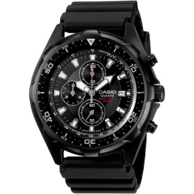 jcpenney.com | Casio® Mens Black Chronograph Dive Watch AMW330B-1A