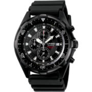 Casio® Mens Black Chronograph Dive Watch