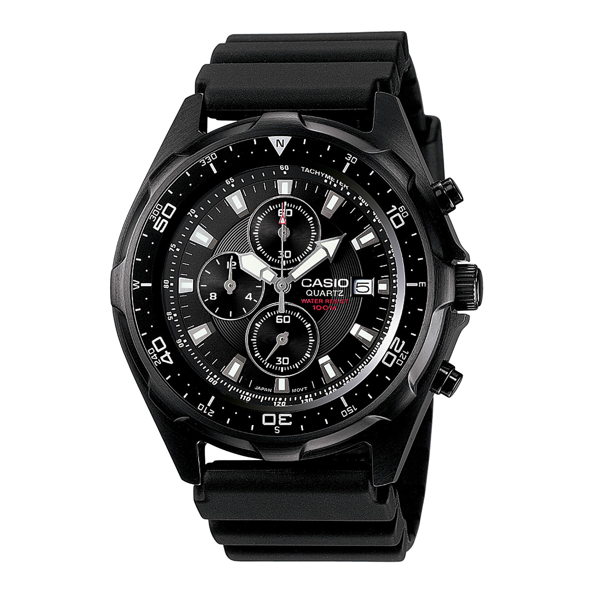 Casio Mens Black Chronograph Dive Watch AMW330B-1A