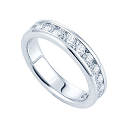 1 CT. T.W. Channel-Set Diamond Band