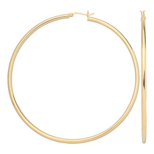 14K Gold Over Silver 80mm Hoop Earrings