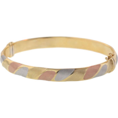 jcpenney.com | 14K Tri-Tone Gold Over Silver Bangle