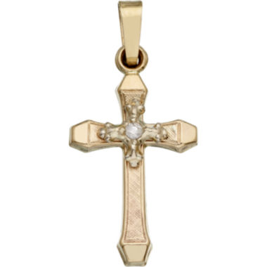 jcpenney.com | 14K Gold Diamond-Accent Cross Charm