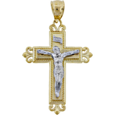 jcpenney.com | 14K Two-Tone Gold Crucifix Pendant