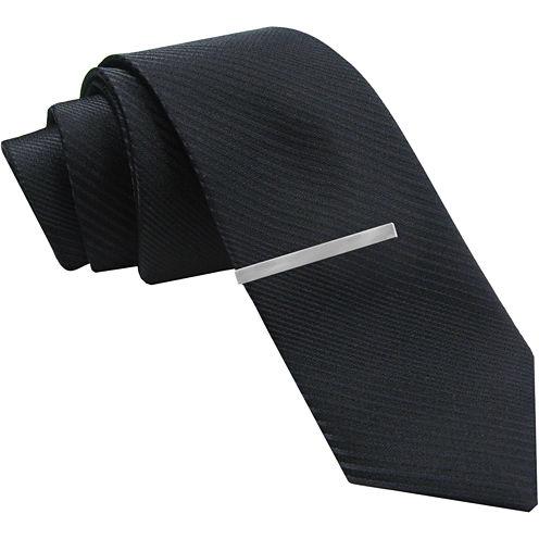 JF J. Ferrar® Black Gradient Striped Tie