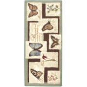 Birds and Butterflies Washable Rugs
