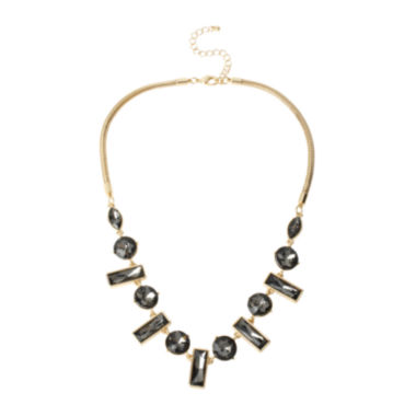 jcpenney.com | Worthington® Black Stone Gold-Tone Collar Necklace