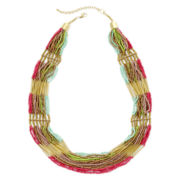 Decree® Seed Bead Multi-Strand Necklace